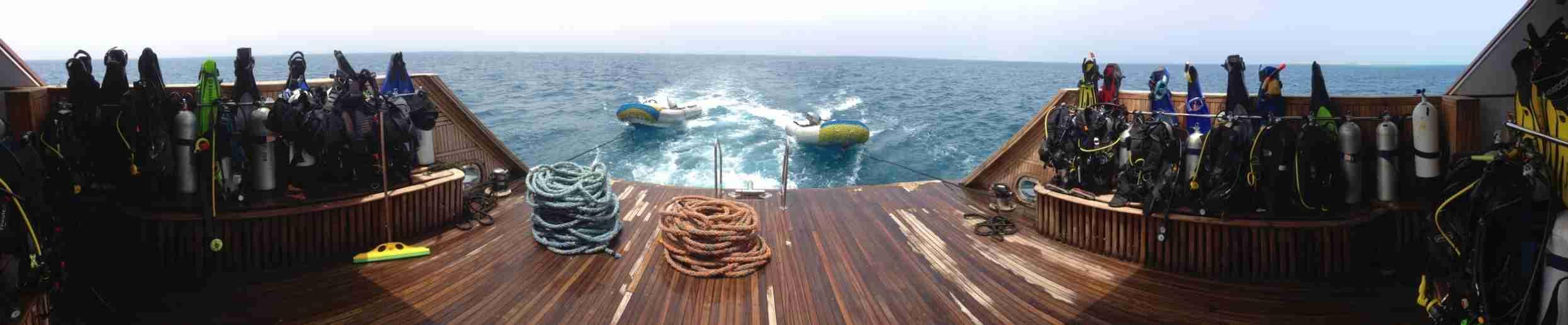 Фотография деки яхты