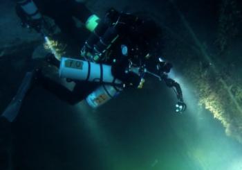 Погружение к затонувшему кораблю на Сардинии