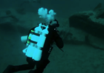 Погружение затопленную подводную лодку «Гагара»