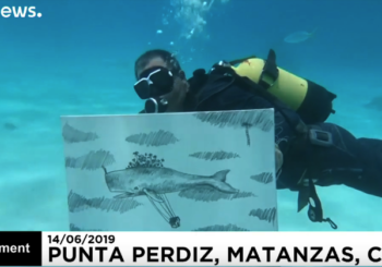 Подводная живопись кубинского художника
