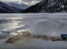 Подлёдный дайвинг на озере Уотертон