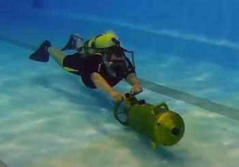 Испытание нового подводного буксировщика «Спрут»