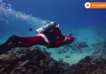 Скуба Санта в водах Флорида-Кис