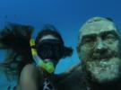 Затопленная статуя Падре Пио