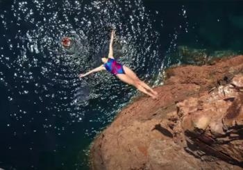 Лучший результат Red Bull Cliff Diving в Сен-Рафаэль